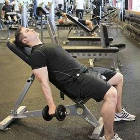 Упражнения молоток на наклонной скамье