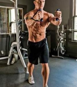 Упражнение кроссовер на середину грудных