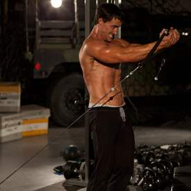 Упражнение россовер на верхнюю часть грудных