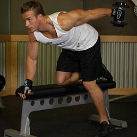 упражнения на трицепс с гантелями